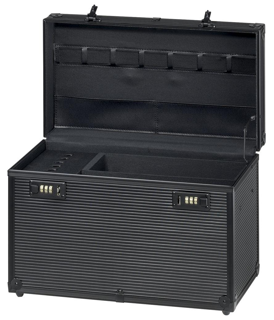 """Equipment case aluminium (Black) """"Profi""""."""