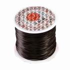 Elastisch rekbaar garen, 10 meter, Ø 0,8 mm., kleur: zwart