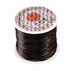 Elastic stretchy thread, 10 meter, Ø 0,8 mm., color: black
