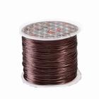 Elastisch rekbaar garen, 10 meter, Ø 0,8 mm., kleur: bruin