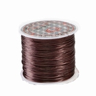 Elastic stretchy thread, 10 meter, Ø 0,8 mm., color: brown