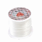 Elastic stretchy thread, 10 meter, Ø 0,8 mm., color: white