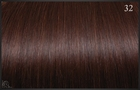 Ring On (I-tip) extensions, Kleur 32 (Intens mahonie), 50 cm
