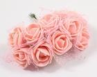 Rose PE foam Ø 2.2 cm, Color: Salmon