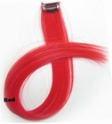 Clip-in synthetic, color: Red