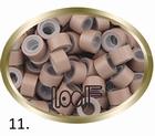 Micro Ring aluminium siliconen type, kleur *11-Licht Bruin