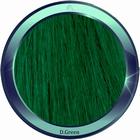 Straight human hair extensions 50 cm. Color: DARK GREEN
