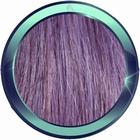 Straight human hair extensions 50 cm. Color: DARK LILLA