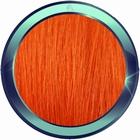 Straight human hair extensions 50 cm. Color: DARK ORANGE