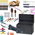 Keratine extensions DELUXE starter kit 1 Black front closed