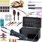 Keratine extensions DELUXE starter kit3 Black foldable front