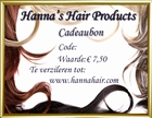 GIFT VOUCHER to the valua of 7,50 to exchange at an order