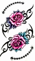 Red roses Body tattoo