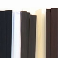 Platte Italiaanse keratine strip - kleur: Zwart