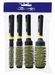 Round Styler brushes set, color Yellow (4)