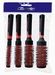 Round Styler brushes set, color Red (4)