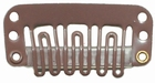 Smalle U-shape clip, kleur Licht bruin