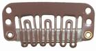 Small U-shape clip, color: Light Brown
