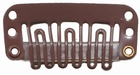 Small U-shape clip, color: Brown