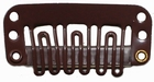 Small U-shape clip, color: Dark Brown