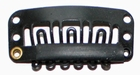 Smalle U-shape clip, kleur Zwart
