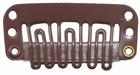 Medium U-shape clip, color: Brown