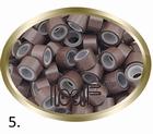 Micro Ring aluminium siliconen type, kleur *5-Bruin