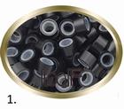 Micro Ring aluminium siliconen type. kleur *1-Zwart