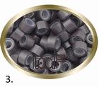 Micro Ring aluminium siliconen type, kleur *3-Donker Bruin