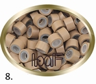 Micro Ring aluminium siliconen type, kleur *8-Donker Blond