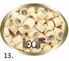 Micro Ring aluminium siliconen type, kleur *13-Blond
