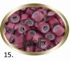 Micro Ring aluminium silicone type, color BURGUNDY