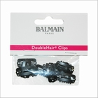 Double Hair clips 10 stuk - Zwart