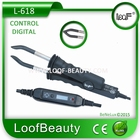 Hairextensions Iron LCD Control temperatur, color: Black