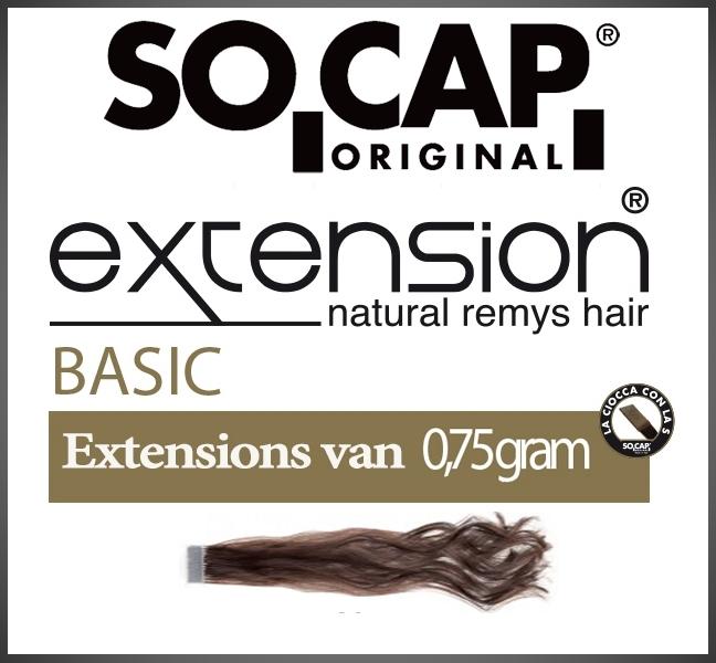 Socap 60/65 cm. natural wavy