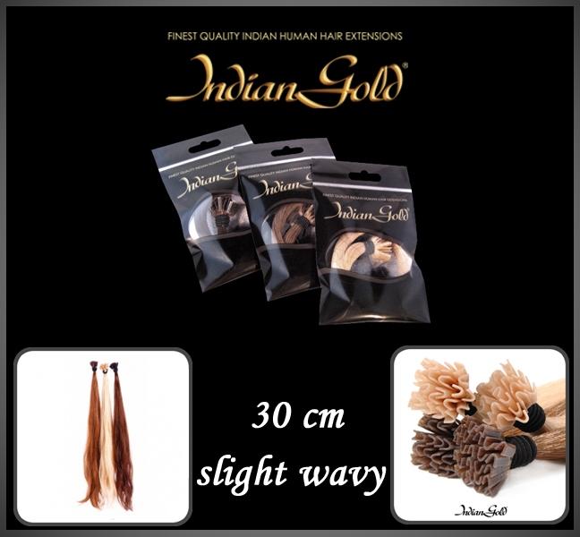 30 cm. slight wavy keratine bonding