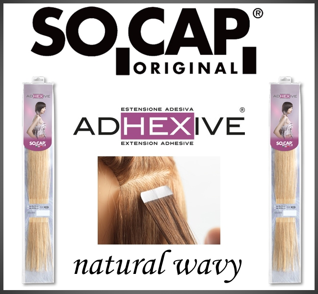 50 cm. Tape extensions natural weavy
