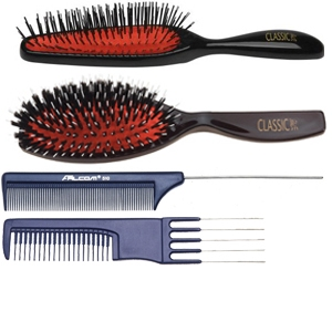 Hairextension brushes and combs