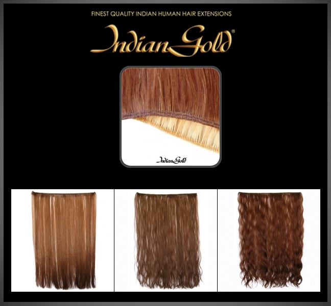Indian Gold Machine Hair weft