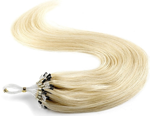 Loop hairextensions straight 50 cm.