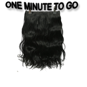 ONE MINUTE TO GO  30 cm. Wavy