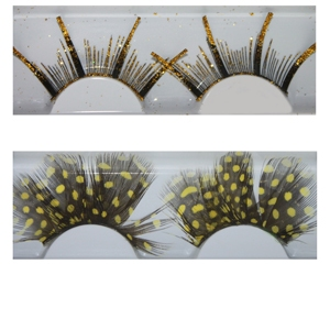 Party feather eyelash